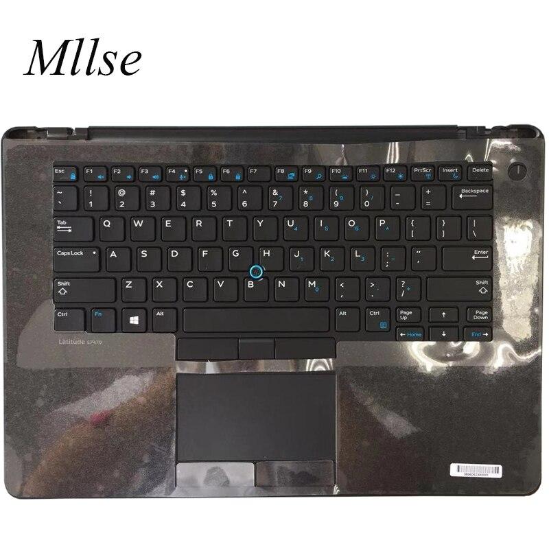 Бесплатная доставка, новинка, Оригинальный чехол для клавиатуры Dell Latitude E7470 7470 C, чехол с тачпадом 09VXX8 9VXX8, расположение США