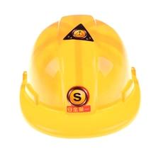 Желтый моделирование безопасности шлем ролевые игры шляпа игрушка строительство забавные гаджеты Творческие дети Дети G