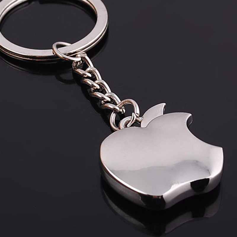Novelty Souvenir Metal Apple Key Chain Creative Gifts Apple Keychain Key Ring Trinket Car Key Ring Car Key Ring