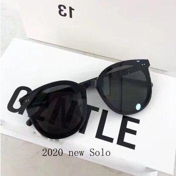 цена на 2020 New High Quality SOLO Sunglasses Korea Brand GENTLE Sunglasses Women Men Round Eyeglasses With Original Case