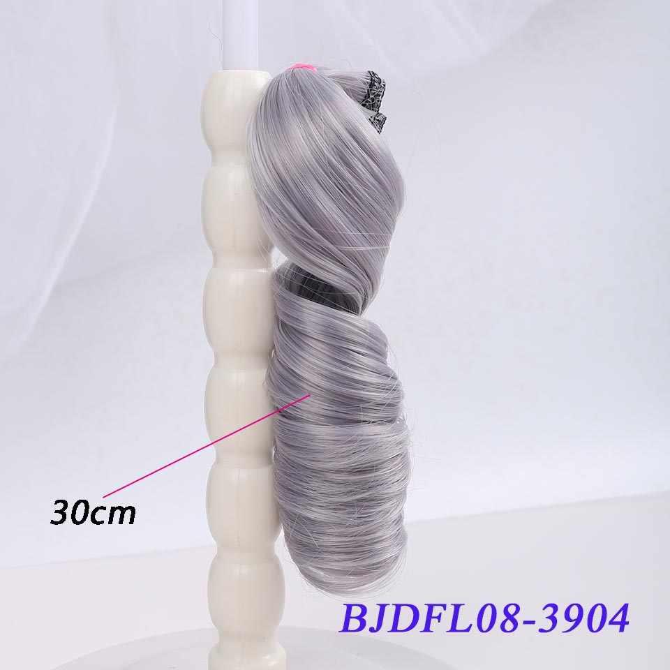 Bybrana długie kręcone włosy 30cm * 100cm i 15cm * 100cm bjd DIY peruka dla lalek darmowa wysyłka