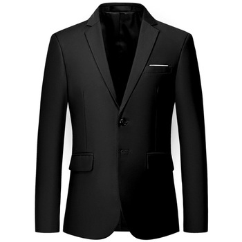 Black Men's Cocktali Party Banquet Dress Suit Business Casual Male Plus Size Slim Blazer Jacket Singer Stage Performance Clothes