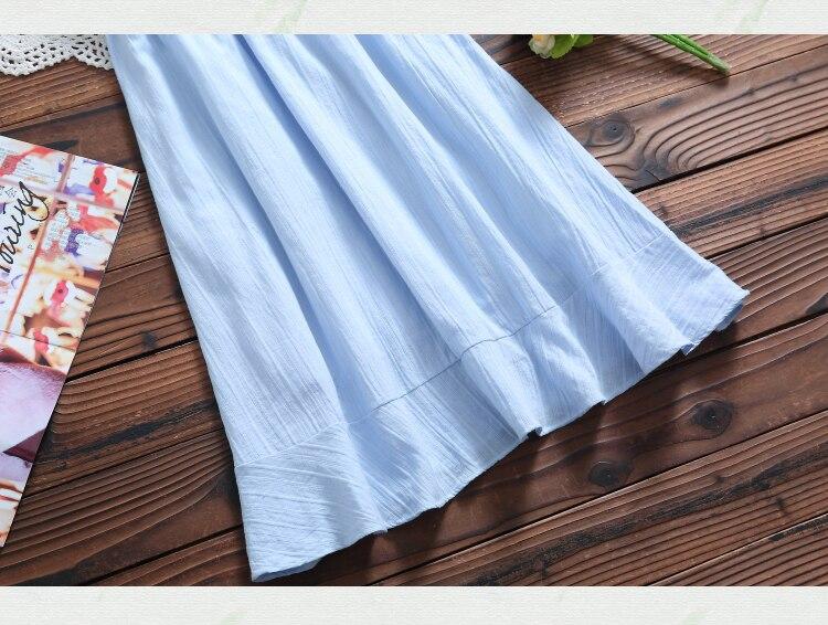 Kawaii Summer Cotton V Neck Dress 18