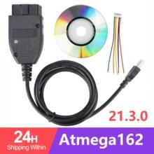 5 pçs/lote testadores elétricos 21.3 obd2 16pin interface de diagnóstico para carros do grupo vag atmega162 + 16v8 + ft232rl sku: 1st multi 1962