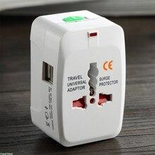 Tomada elétrica adaptador de tomada de energia internacional adaptador de viagem universal tomada usb carregador conversor da ue reino unido eua au
