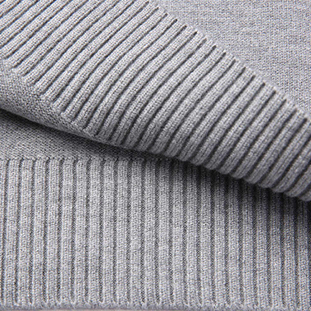 캐주얼 남성 솔리드 컬러 긴 소매 O 넥 풀오버 플러스 사이즈 니트 스웨터