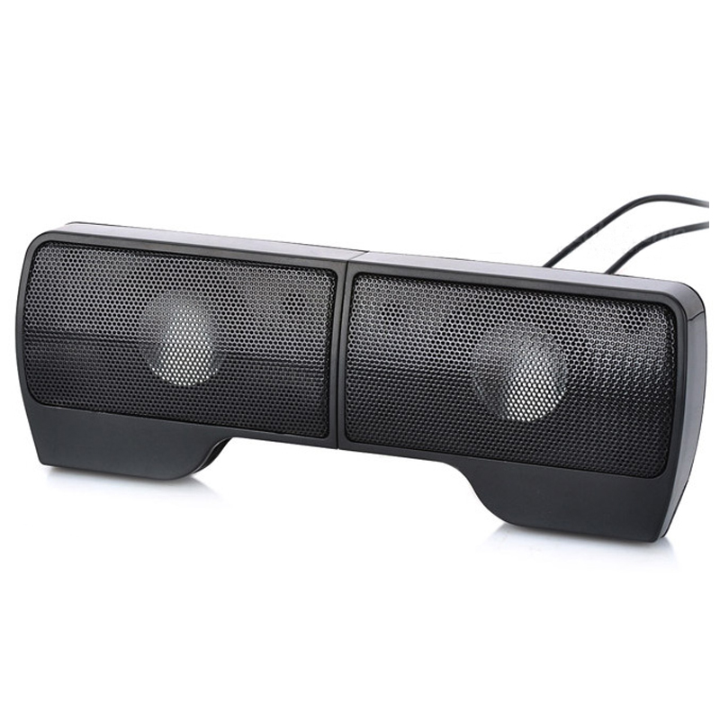 Hot AMS-Portable Clip-On USB Powered Stereo Speaker Soundbar for Notebook Laptop PC Desktop Tablet