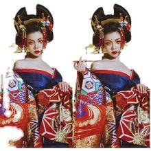 Японские кимоно Косплэй головной убор большая бабочка аксессуар