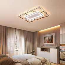 Brown and White Modern Led Ceiling Lights Metal Acrylic Lamps for Bedroom Dining Room Surface Mounted