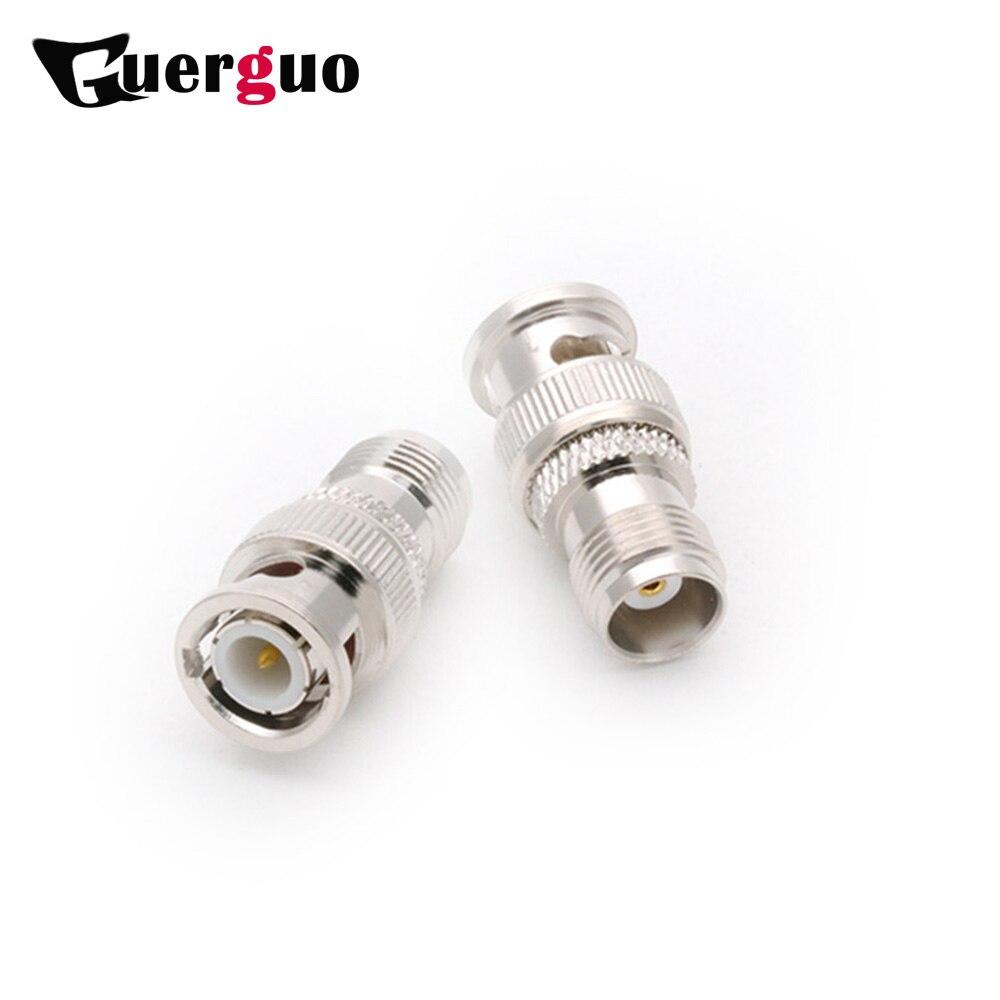 100pcs BNC Male Plug to TNC Female Jack Straight RF Adapter Coupler High Quality Copper TNC to BNC M/F RF Connector Converter