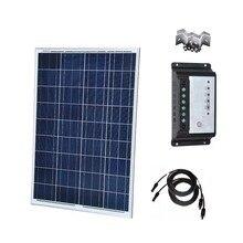 Polycrystalline Panel Solar 12V 100W Solar Charge Controller 12v/24v 20A Solar Phone Charger  Caravan Car Camping  Motorhomes цена