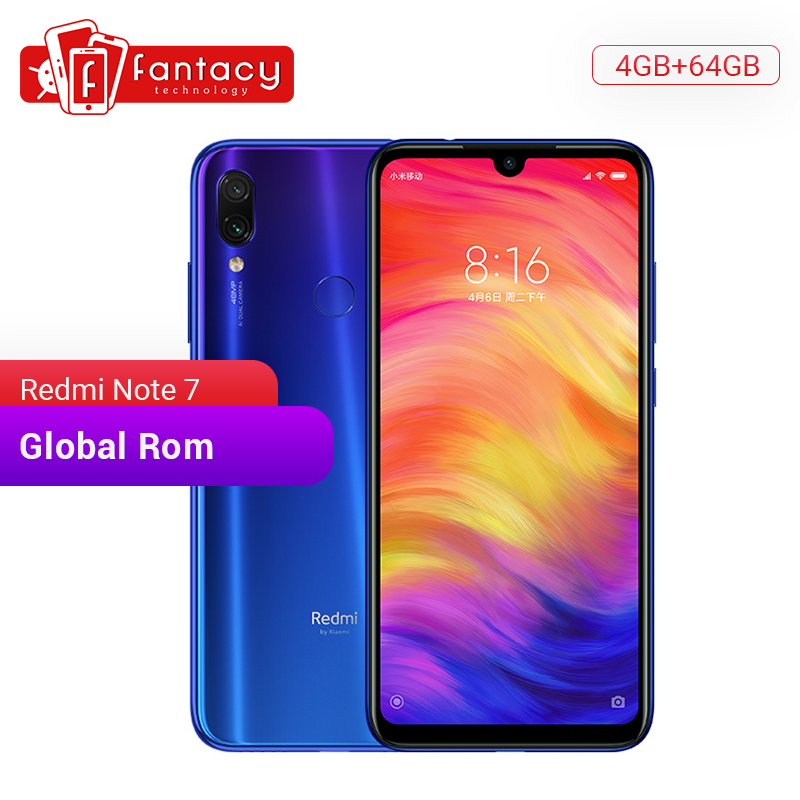 In Stock Global Rom Xiaomi Redmi Note 7 6GB 64GB 6.3'' Water Drop FHD Screen 48MP Cameras Snapdragon 660 Octa Core Mobile Phone