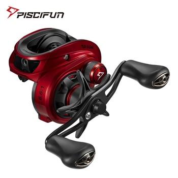 Piscifun Spark Baitcasting Fishing Reel Super Compact 7.5KG Carbon Fiber Drag Magnetic Brake System Low Profile Baitcaster Reel