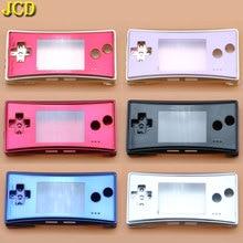 JCD 4 ใน 1 โลหะกรณีเปลือกหอยสำหรับ Nintendo GameBoy Micro GBM ด้านหน้า Back Cover Faceplate ที่ใส่แบตเตอรี่ /สกรู