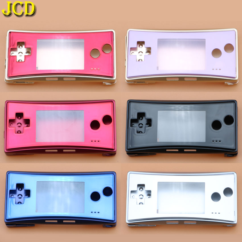 JCD 4 in 1 Metal Housing Shell <font><b>Case</b></font> for Nintend GameBoy Micro <font><b>GBM</b></font> Front Back Cover Faceplate Battery Holder w/ Screw image