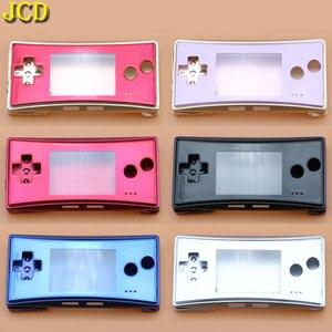 Image 1 - Jcd 4 in 1 금속 하우징 쉘 케이스 nintend gameboy micro gbm 전면 후면 커버 페이스 플레이트 배터리 홀더 (나사 포함)