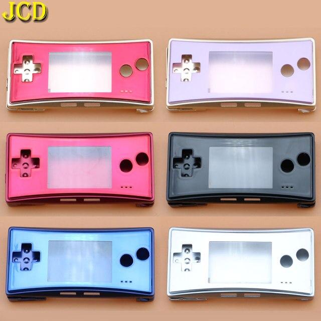 Jcd 4 in 1 금속 하우징 쉘 케이스 nintend gameboy micro gbm 전면 후면 커버 페이스 플레이트 배터리 홀더 (나사 포함)
