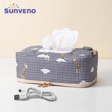 Sunveno Baby Wipe Warmer Wipes Dispenser Heater Wet Towel Dispenser Napkin Heating box Home/Car Use Mini Wipe Warmer Case