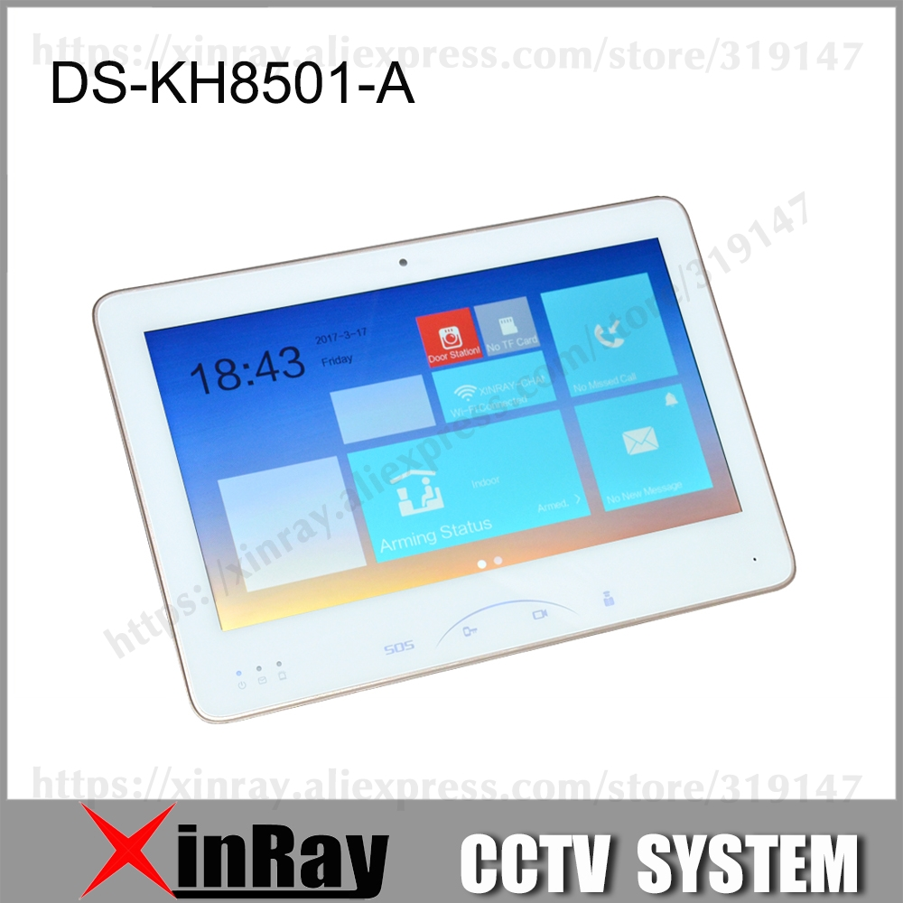 Hikvision Indoor Video Intercom DS-KH8501-A With 10'' Color Touch Screen 8 Access 0.3MP Camera TF Car Upto 128G