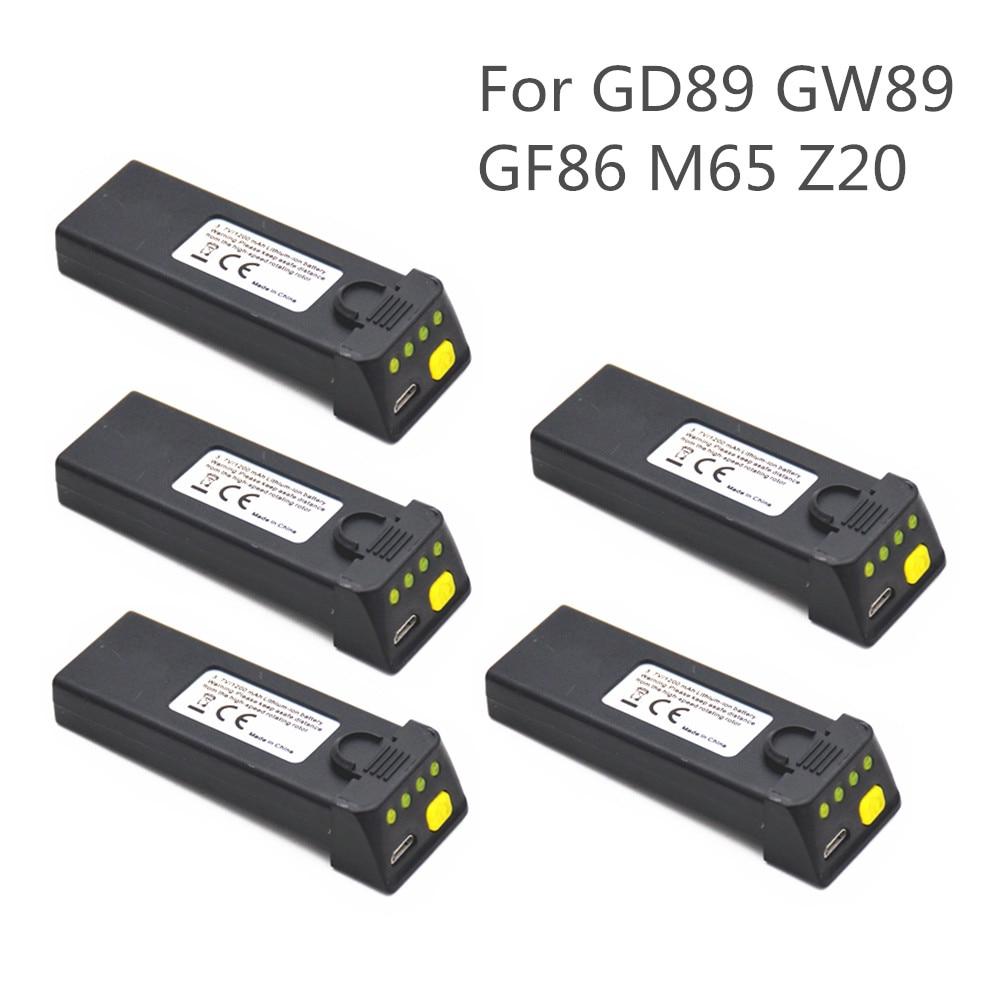 Original Battery / Propellers Blades For EXA GD89 GW89 GF86 M65 Z20 Drone Battery 3.7V 1200mah
