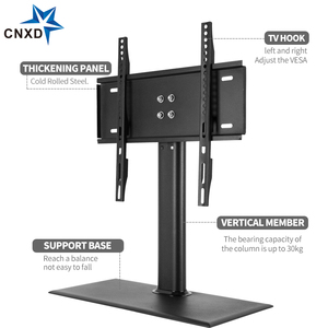 Image 4 - 탁상 TV 테이블 모니터 스탠드 범용 TV 데스크 스탠드/기본 LCD LED TV 테이블 벽 마운트 26 ~ 55 인치 평면 화면