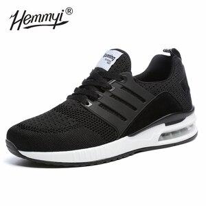 Image 2 - Женские кроссовки, сетчатые, дышащие, Basket Femme, на воздушной подушке, для пары, повседневная обувь, унисекс, Tenis Feminino, размеры 36 45, весна/осень