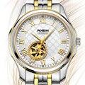 Новые мужские часы от роскошного бренда ROSDN  парные часы с автоматическим механическим перемещением MIYOTA  мужские часы со скелетом и сапфиро...