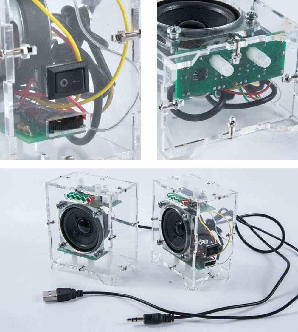 DIY מיני קטן מגבר רמקול ערכת 3W רמקול אודיו תלמיד הלחמה ניסוי אימון Diy ערכת המעגלים