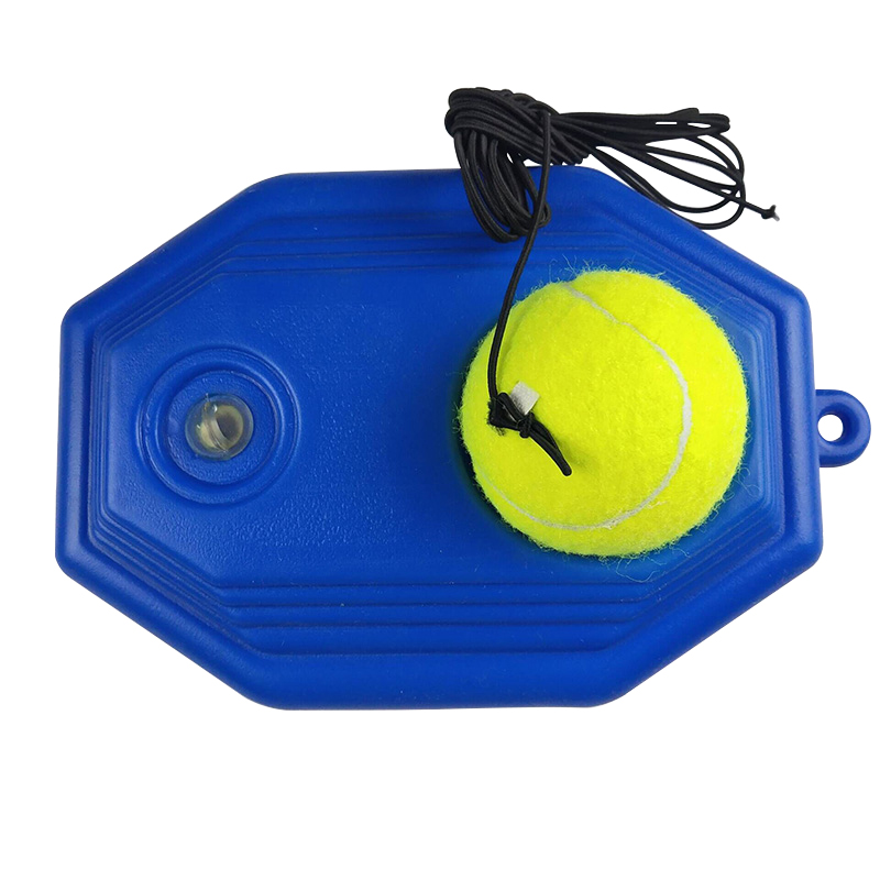 Portable Tennis Training Ball With Rubber Band Tennis Trainer Rebound Device Self-study Accessories Random Words