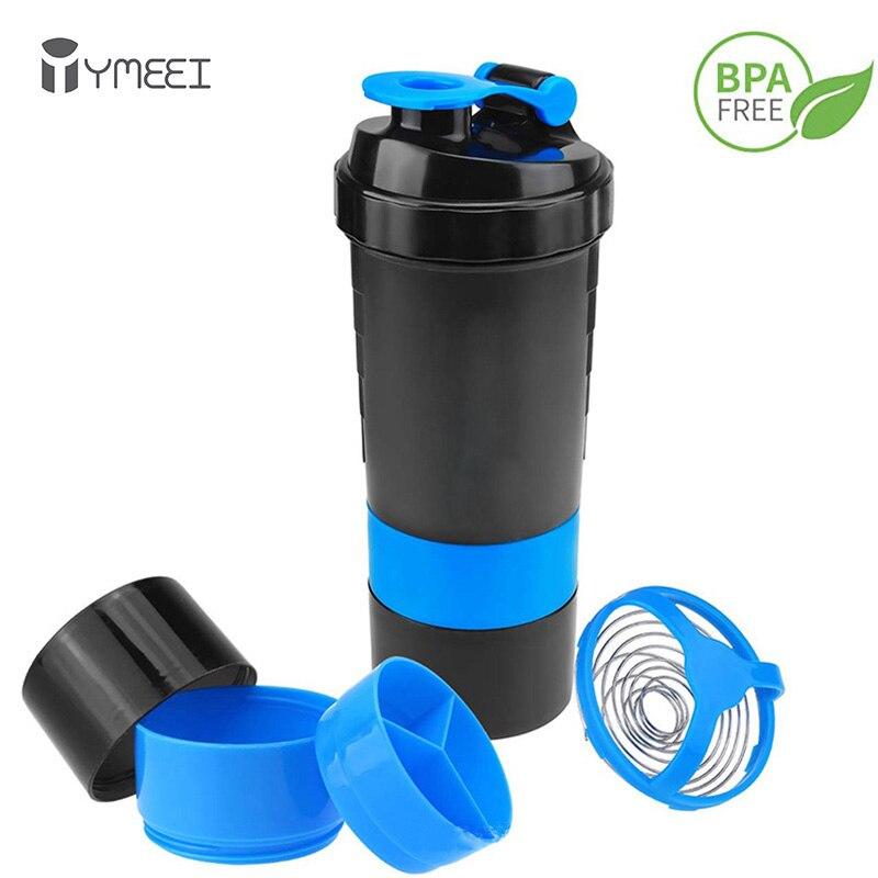 YMEEI шейкер для протеина, бутылка для сыворотки, смешивающая бутылка для белка, портативная шейкер для фитнеса, тренажерного зала, бутылка, ге...