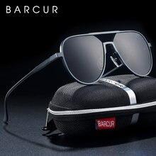 Мужские большие алюминиевые солнцезащитные очки barcur поляризационные