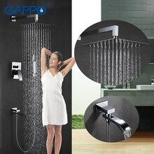 GAPPO อ่างอาบน้ำก๊อกน้ำห้องน้ำปกปิดฝักบัวนวดหัวน้ำตก bath ฝักบัวระบบก๊อกน้ำชุด