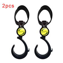 2PCS Stroller Accessories Shopping Bag Hook Hanger Bear 3kg Black Baby Car Carriage Universal Plastic Buggy Hooks