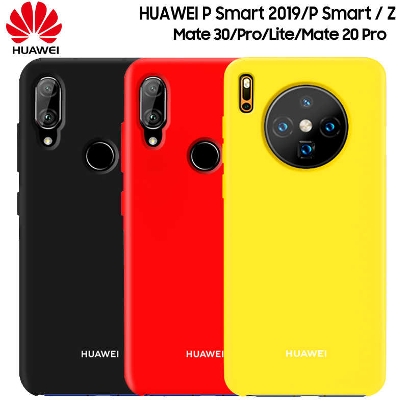 HUAWEI P Smart 2019 Case New Liquid Silicone Soft Protection Back Cover HUAWEI Mate 30 20 Lite Pro 20 X 20X P Smart Z Case