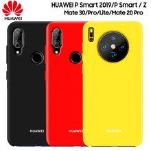 HUAWEI P Smart 2019 Case New Liquid Silicone Soft Protection Back Cover Mate 30 20 Lite Pro X 20X Z
