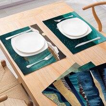 Япония стиль горное море шаблон тарелка креативные бирдекели прямоугольник чаша столик-мат аксессуары чай вечерние украшения