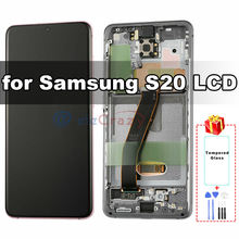 Оригинальный amoled дисплей для samsung galaxy s20 g980f g980f/ds