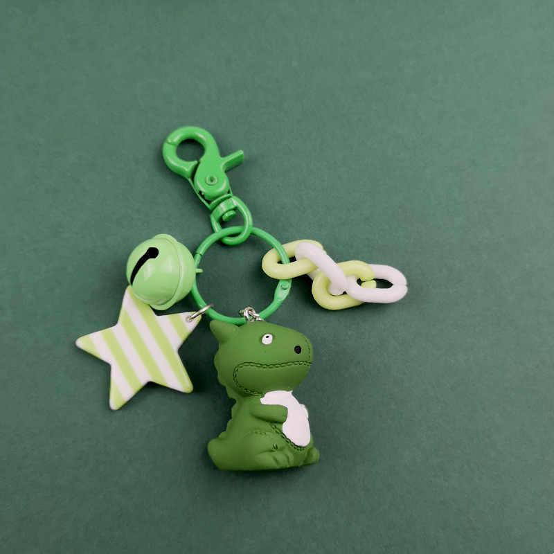 2019 Модный милый мультяшный маленький брелок для ключей динозавры цепочка для ключей из ПВХ для женщин сумка Шарм брелок для ключей подвеска подарки ювелирный брелок для девочек
