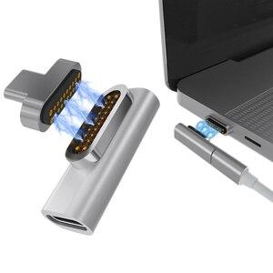 Магнитный usb-адаптер с 20 контактами, 4K, 100 Вт, быстрая зарядка для Macbook Pro Pixelbook SP99