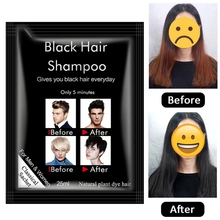 New Natural Fast Hair Dying Shampoo Black Shampoos Coloring Easy To Clean No Stimulation Dye Color