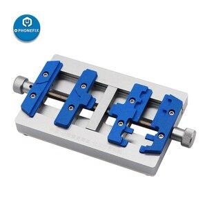 Image 2 - Mj k23 duplo eixo pcb suporte de solda para o reparo do iphone placa mãe reparação de solda dispositivo elétrico para samsung ferramenta de reparo de soldagem