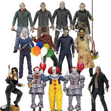 3D 13th Friday Jason Leatherface Chainsaw John Carpenter's Michael Myers Freddy Krueger Pennywise Joker Action Figure Toy action figure neca black friday the 13th jason camp crystal lake scenes action figure movable model collection decor