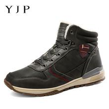 YJP nowych mężczyzna buty antypoślizgowe skórzane buty mężczyźni popularne wygodne męskie buty śnieg buty wytrzymała podeszwa na świeżym powietrzu nie- buty antypoślizgowe tanie tanio Buty śniegu Kostki Lace-up Stałe Pasuje prawda na wymiar weź swój normalny rozmiar Okrągły nosek Pasek stawu skokowego