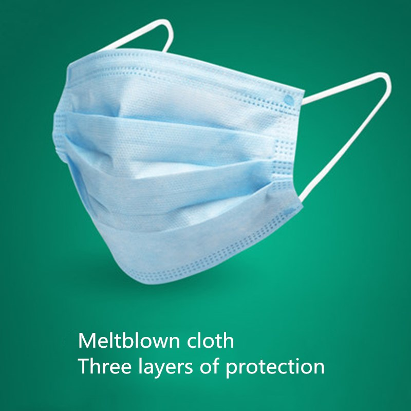 20 Pcs Face Mouth Mask Meltblown Non-woven Dust Mask Dustproof As KN95 Disposable Mouth Mask 3-layer Dustproof Cloth