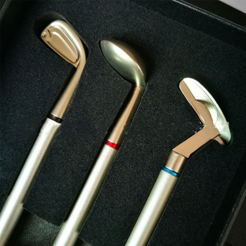 Golfing Premium Mini Golf Putter Pen Set Office Gift For Men Ballpoint Creative Writing Supplies Durable Metal Beautiful