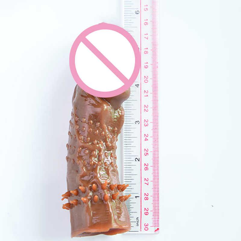 Уплотненные большие презервативы с пупырышками фаллоимитатор кольца член кольца пенис удлинитель многоразовая Водонепроницаемая игрушка для любовных игр презерватив