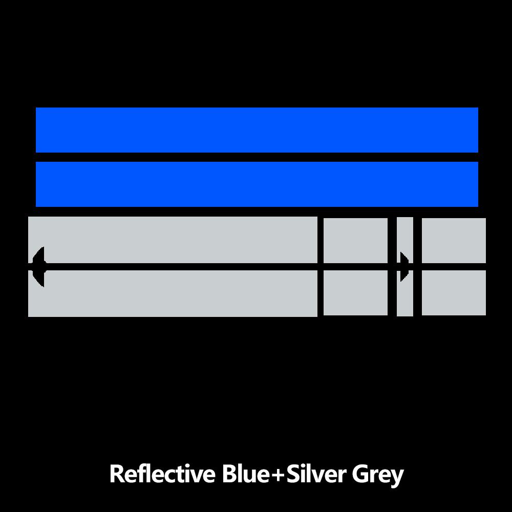 Наклейка на капот автомобиля капот полосы крыши задняя крышка двигателя стикер для мини-купе R58 Cooper S JCW Джон Купер работает аксессуары - Название цвета: blue and silvergrey