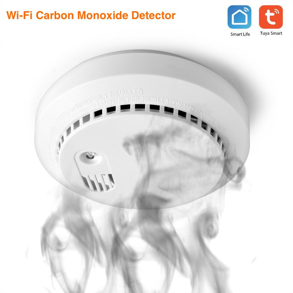 Wifi Carbon Monoxide Detector Co Smoke Sensor Smart Home Security Tuya Smart Life App Alexa Google Home IFTTT