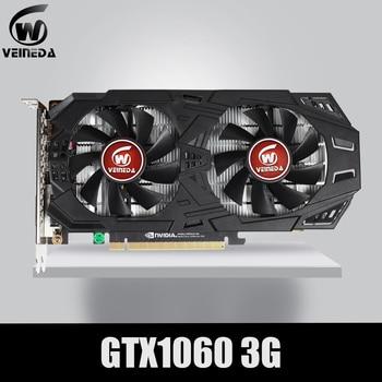 VEINEDA Graphics Card GTX 1060 3GB 192Bit GDDR5 GPU Video Card PCI-E 3.0 For nVIDIA Gefore Series Games Stronger than GTX 1050Ti 1