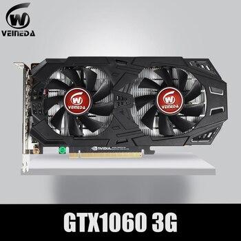 Видеокарта VEINEDA GTX 1060 с PCI-E 3.0, графическая карта 3 Гб, 192 бит, с GDDR5 и ГПУ, PCI-E 3.0 для игр серии NVIDIA GeForce, лучше, чем GTX 1050Ti